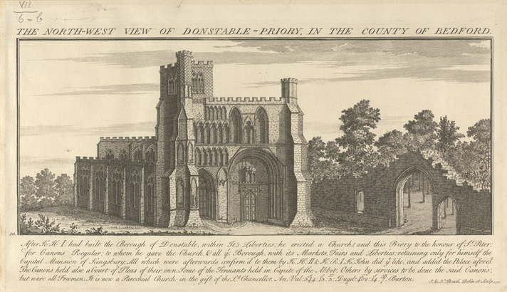 North West View Of Dunstable Priory, Buck, 1730